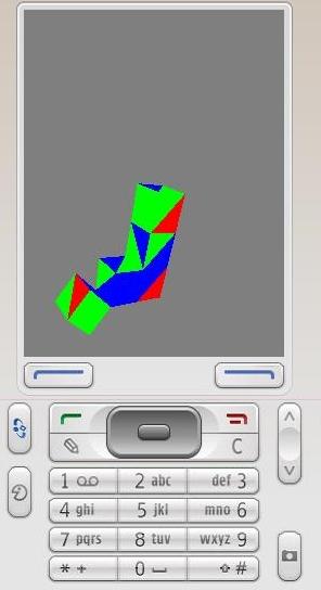 Simulacion movimiento de un Cubo Nokia 95